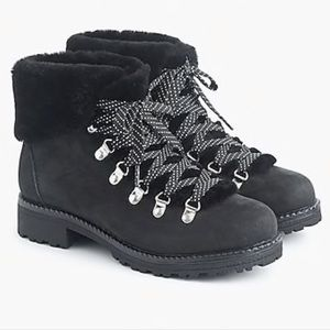 Jcrew Black Nordic Boot Size 8